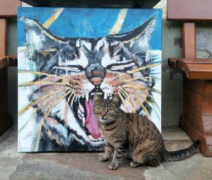 Katzenbild mit Modell